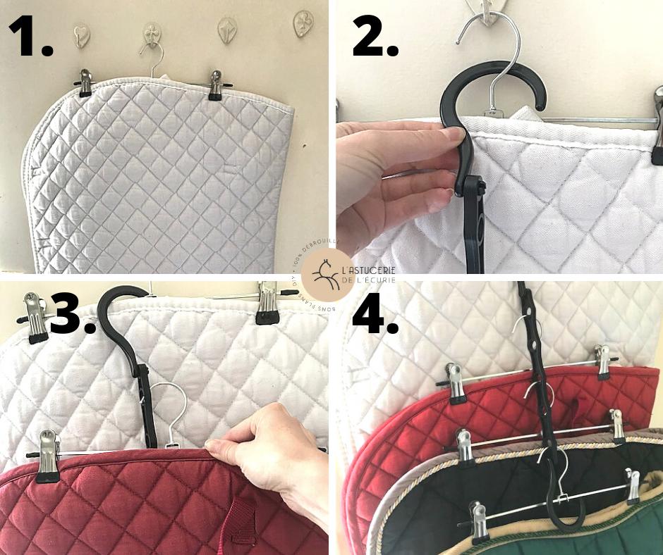 Comment ranger les tapis de selle pour gagner de la place dans les placards