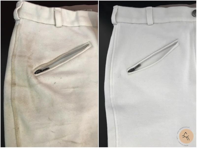 comment récupérer pantalon blanc équitation sans javel