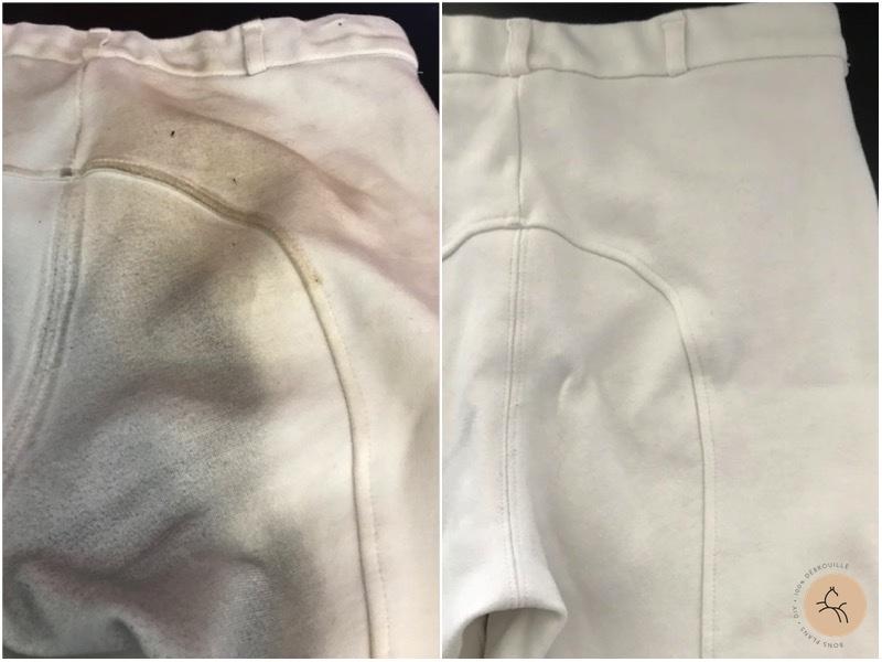 comment laver pantalon blanc concours équitation taché sans javel sans bouillir