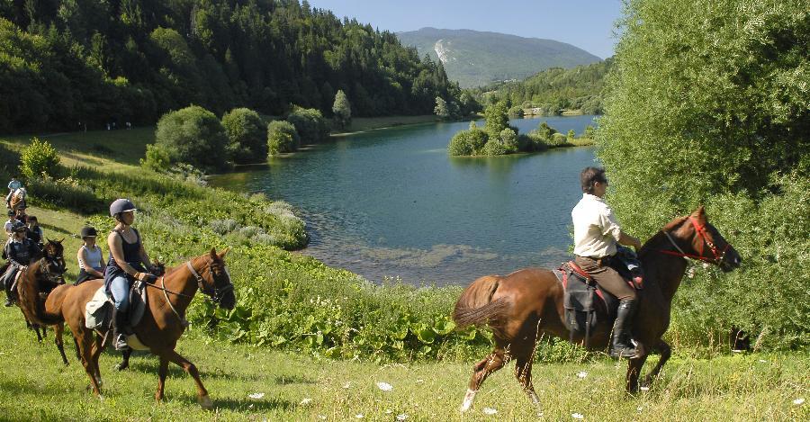 visiter les Bauges Savoie à cheval